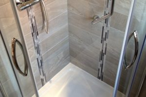 photo of shower cubicle installation